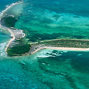 Bush Key from the air in Dry Tortugas National Park, FL.
