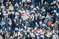 ROTTERDAM - Feyenoord - SC Cambuur , Voetbal , Seizoen 2015/2016 , Eredivisie , Feijenoord Stadion De Kuip , 06-03-2016 , Wanbeleid en gudde weg protesten