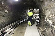Underjordiske kabler, fra opprustningen av Nea kraftverk i Tydal i 2009.