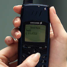 Texting on a Mobile Phone - 2000