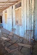 Porch and rocking chairs in Las Martinas, Pinar del Rio, Cuba.