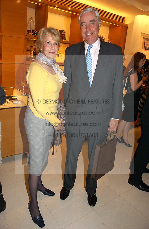 RUPERT &amp; ROBYN HAMBRO at a party to celebrate the publication of 'Made for Maharajas' by Dr Amin Jaffer hosted by Louis Vuitton at their store on Sloane Street, London on 10th October 2006.<br />