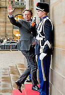 12-1-2016 AMSTERDAM Bert Koenders Koning Willem-Alexander en Koningin Maxima houden dinsdag 12 januari 2016 de traditionele Nieuwjaarsontvangst voor Nederlandse genodigden in het paleis op de dam . prinses beatrix  prinses Margriet . COPYRIGHT ROBIN UTRECHT<br /> AMSTERDAM 12-1-2016 King Willem-Alexander and Queen Maxima arrive Tuesday, January 12th, 2016 for the traditional New Year Reception for Dutch guests in the palace on the dam. princess beatrix Princess Margriet . COPYRIGHT ROBIN UTRECHT
