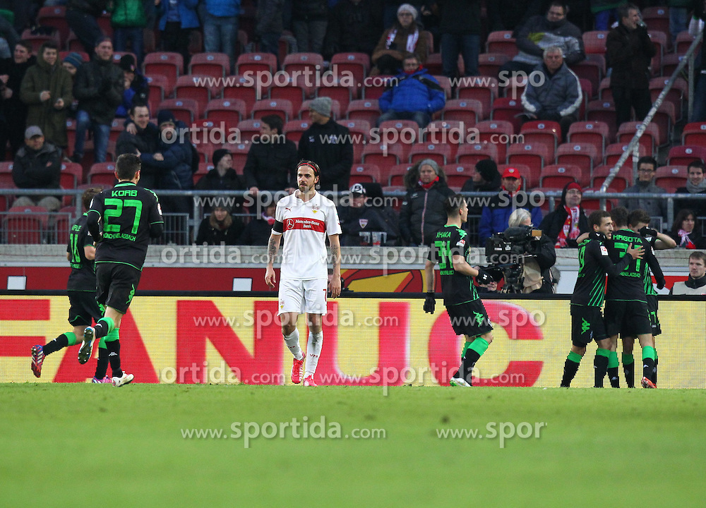 31.01.2015, Mercedes Benz Arena, Stuttgart, GER, 1. FBL, VfB Stuttgart vs Borussia Moenchengladbach, 18. Runde, im Bild Martin Harnik ( VfB Stuttgart ) nach dem 0:1 // during the German Bundesliga 18th round match between VfB Stuttgart and Borussia Moenchengladbach at the Mercedes Benz Arena in Stuttgart, Germany on 2015/01/31. EXPA Pictures &copy; 2015, PhotoCredit: EXPA/ Eibner-Pressefoto/ Langer<br /> <br /> *****ATTENTION - OUT of GER*****
