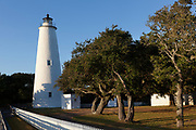 NC00817-00...NORTH CAROLINA - Ocracoke Lighthouse on Ocracoke Island part of the Outer Banks.