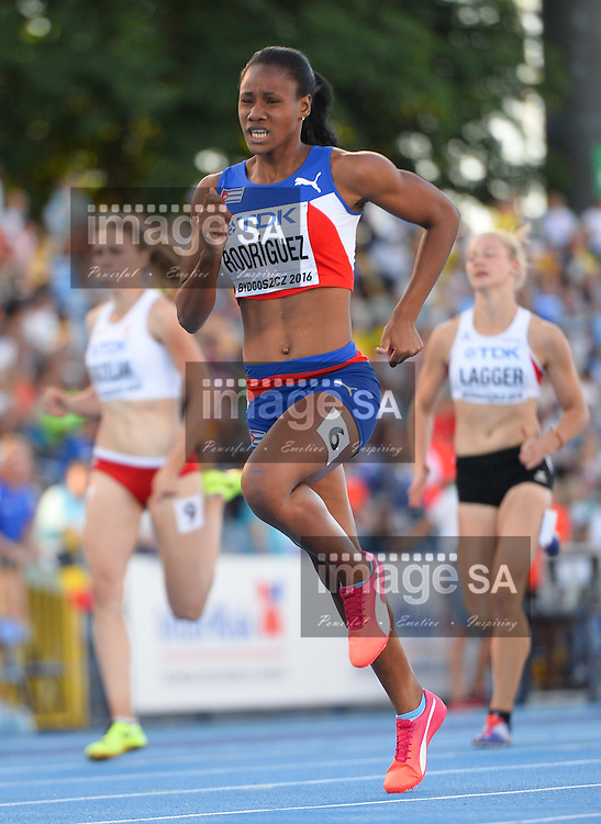 BYDGOSZCZ, POLAND - JULY 21: Adriana Rodriguez of Cuba in the 200m of the women's heptathlon during the evening session on day 3 of the IAAF World Junior Championships at Zawisza Stadium on July 21, 2016 in Bydgoszcz, Poland. (Photo by Roger Sedres/Gallo Images)