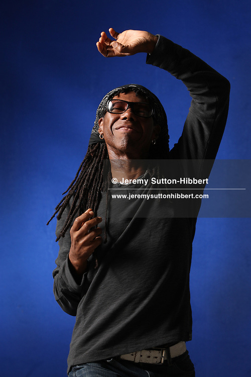 Nile Rodgers, iconic writer and producer of pop music and songs, appears at a photocall prior to an event at the Edinburgh International Book Festival, in Edinburgh, Scotland, on Sunday 19th August 2012.