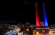Spokane and Gonzaga celebrate the No. 1 ranking of the men's basketball team. (Photo by Edward Bell)