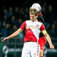ROTTERDAM - SBV Excelsior - FC Utrecht , Voetbal , Eredivisie, Seizoen 2015/2016 , Stadion Woudestein , 03-10-2015 , FC Utrecht speler Rico Strieder in kopduel met Excelsior speler Adil Auassar (r)