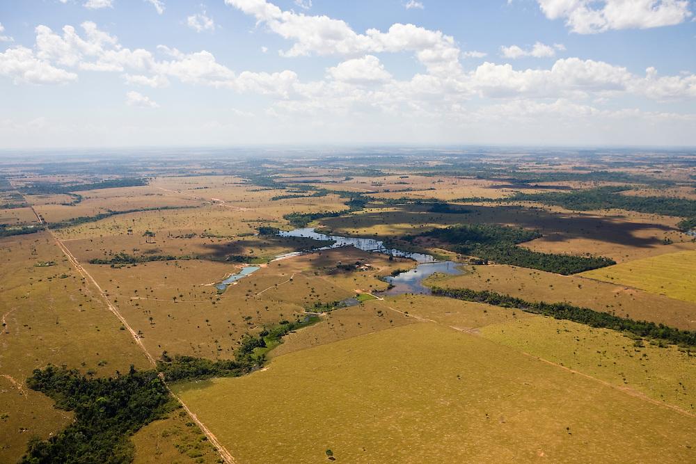 Fazenda Zenetti (cattle farm) in Mato Grosso,m Brazil, August 6, 2008..Daniel Beltra/Greenpeace