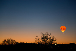 """Balloon Over Reno""- This hot air balloon is part of the Dawn Patrol in The Great Reno Balloon Race."