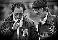 Bobby Rahal, seen here with Walter Wolf F1 Team Manager Peter Warr, was an outstanding up-and-coming U.S. racing driver when he was given the opportunity to drive the second Wolf-Ford F1 car at the 1978 United States and Canadian Grands Prix. <br /> <br /> He had finished second to rising  Canadian Ferrari F1 star Gilles Villeneuve in the 1977 North American Formula Atlantic Championship and had raced Formula 3 in Europe as part of the Walter Wolf team. <br /> <br /> Even though he would go on to win the 1986 Indianapolis 500, three CART Championships and 24 CART events in the years ahead, on this day, and under Peter Warr's cold eyes, Formula One placed the weight of the world on his young shoulders. He would go on to finish 12th in his Grand Prix debut.