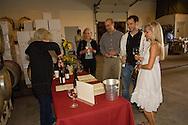Young couple enjoys wine tasting, Bergström winery, Yamhill-Carlton AVA, Willamette Valley, Oregon