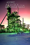 Alaska. Vacuum unit increases efficiency at an oil refinery by reducing by half the amount of petroleum by products produced.