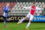 AMSTERDAM - Jong Ajax - FC Eindhoven , Voetbal , Jupiler league , Seizoen 2016/2017 , Sportpark de Toekomst , 24-02-2017 , Jong Ajax speler Kaj Sierhuis (r) scoort de 1-0