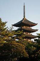Kofukuji is one of the great temples of the Nara period featuring a five storey pagoda.  Today only a handful of the temple's original buildings remain.  Kofukuji was named a UNESCO World Heritage Site.