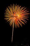 The fireworks display during the Italian festival in Watkins Glen, NY along Seneca Lake.