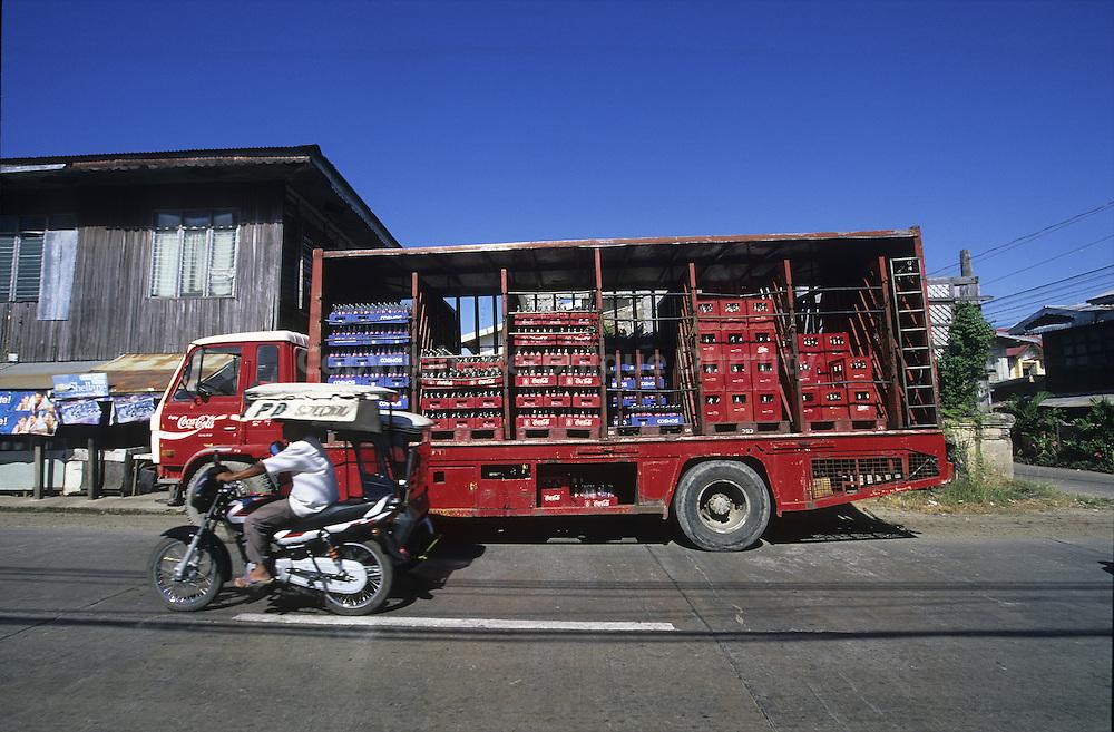 COCA COLA TRUCK, NEAR VIGAN, LUZON ISLAND, THE PHILIPPINES