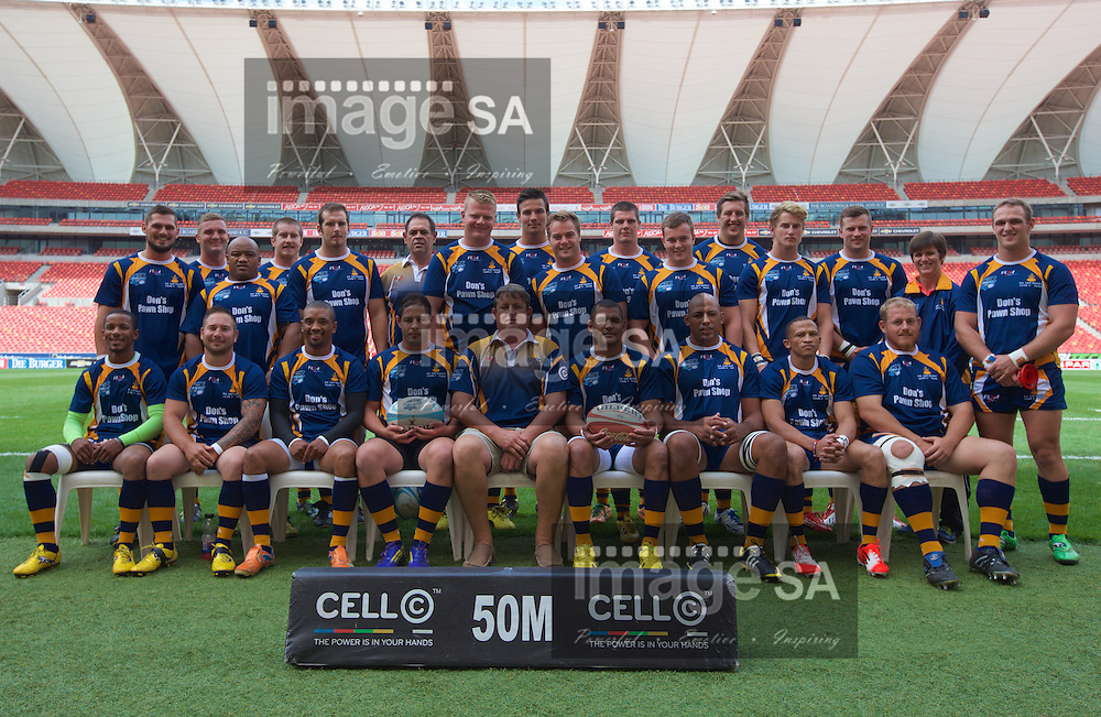 PORT ELIZABETH, SOUTH AFRICA - Saturday 14 March 2015, Don's Pawn Shop Port Elizabeth Police team photo during the fourth round match of the Cell C Community Cup between Don's Pawn Shop Port Elizabeth Police and Durbanville-Bellville at the Nelson Mandela Bay stadium.<br />Photo by Richard Huggard/ImageSA/SARU