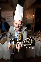 OSLO, NORWAY, 20131117: Releasparty for TV-programmet &quot;Det norske m&aring;ltid&quot; som g&aring;r p&aring; TV2. Heine Totland er rockekokk i eget hus..<br /> FOTO: TOM HANSEN
