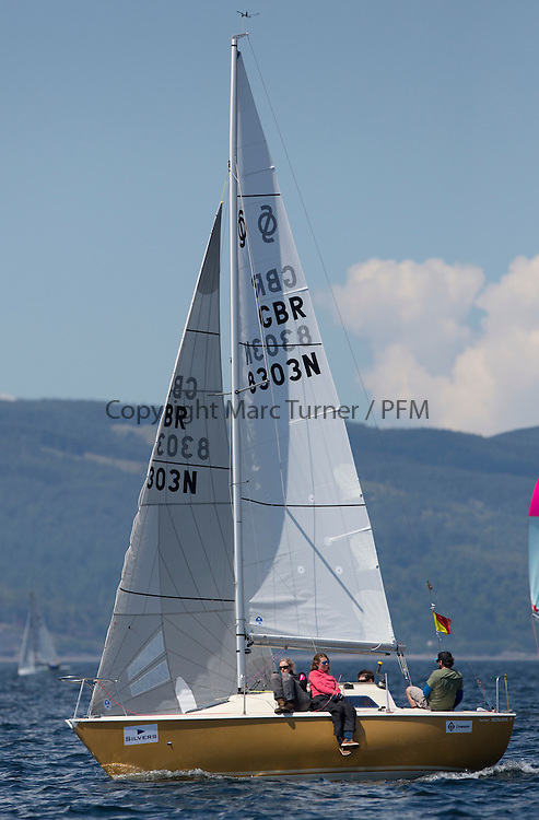 Final days' racing at the Silvers Marine Scottish Series 2016, the largest sailing event in Scotland organised by the  Clyde Cruising Club<br /> <br /> Racing on Loch Fyne from 27th-30th May 2016<br /> <br /> GBR8303N, Edgy, Douglas Paton, Fairlie YC, Sonata OD<br /> <br /> Credit : Marc Turner / CCC<br /> For further information contact<br /> Iain Hurrel<br /> Mobile : 07766 116451<br /> Email : info@marine.blast.com<br /> <br /> For a full list of Silvers Marine Scottish Series sponsors visit http://www.clyde.org/scottish-series/sponsors/