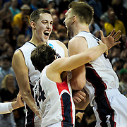 Gonzaga defeats Iowa in the second round of the NCAA Tournament at Key Arena in Seattle, Wash. March 22, 2014.