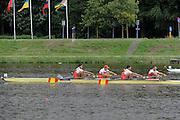 Amsterdam, NETHERLANDS,ESP BM4-,  2011 FISA U23 World Rowing Championships, Wednesday, 20/07/2011 [Mandatory credit:  Intersport Images].
