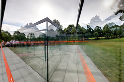 Glass Labyrinth art installation at Kansas City's Nelson Atkins Museum of Art.