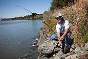 Jerry Strong fishes at Brannan Island State Recreation Area near Rio Vista, Calif., June 13, 2012. Brannan Island is one of ten state parks to be taken over by a private concession in an effort to prevent mass park closures. CREDIT: Max Whittaker/Prime for The Wall Street Journal.CALPARKS.