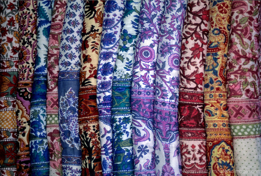 Asia, India, Jaipur. Traditional block print textiles of India.