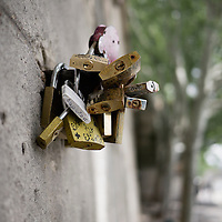 """After years of accumulations, Paris finally decided to remove the """"love locks"""" from the Pont des Arts in June. We happened to be there as they started to be removed."""