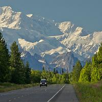 Mt. McKinley from Parks Hwy., north of Talkeetna, Alaska