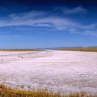 Panorama of Soda Lake on the Carrizo Plain