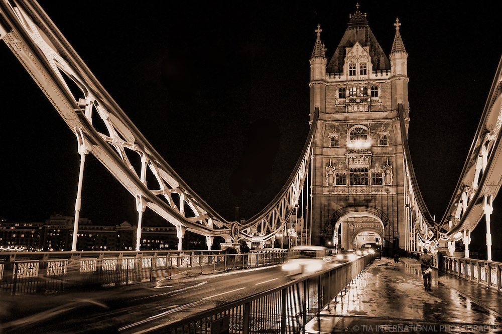 Tower Bridge @ Night (sepia)