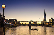 Sunrise over the River Thames and The Shard Building London, Britain - 14 Jan 2016 <br /> SME