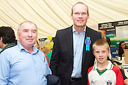 Fine Gael tent And Simon Coveney at National Ploughing Championships, at Ratheniska, Co. Laois.
