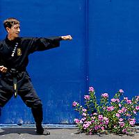 Sensei Ashida Kim at Dojo on Wednesday, August 3, 2005 in Polk City, Fla.(AP Photo/Scott Audette)