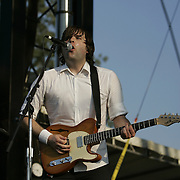 June 16, 2006; Manchester, TN.  2006 Bonnaroo Music Festival. Death Cab for Cutie performs at Bonnaroo 2006.  Photo by Bryan Rinnert