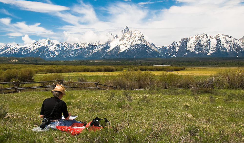 A point of inspiration for a photographer and a painter. Grand Teton National Park, Wyoming.