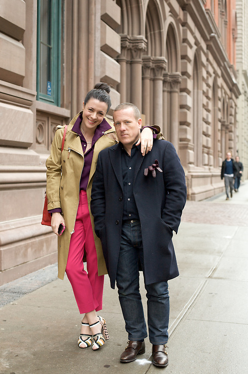 NEW YORK CITY - MARCH 31: Fashion bloggers Scott Schuman and Garance Dore in New York City on March 31, 2011.  {Photo by Brian Adams/Getty Images for Grazia Magazine}.