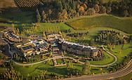 Aerial view over Allison Inn & Spa, Willamette Valley, Oregon