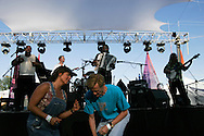 Cajun dancers enjoy the music of C.J. Chenier during a performance at Pickathon, the annual roots music festival near Portland, Oregon.