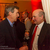 (l to r) Peter Craig and Peter Courtney at the reunion night to celebrate 50 years of the Irish Fireball Class, held at the Royal St George YC.