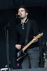 Nathan Nicholson of The Boxer Rebellion on the main stage..Rockness, Sunday, 12th June 2011..RockNess 2011, the annual music festival which takes place in Scotland at Clune Farm, Dores, on the banks of Loch Ness near Inverness..Pic ©2011 Michael Schofield. All Rights Reserved..