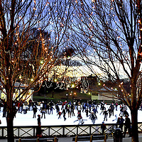 Bostonians skate at Boston Common's Frog Pondt wo days prior to Christmas..