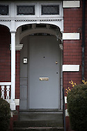 The door of No.110 Ninian Road, Cardiff, Britain, where 17-year-old Aamir Siddiqi was murdered in 2010 by hit men who went to the wrong house. The intended target was Mohammed Ali Tanhai who lived round the corner at No. 85 Shirley Road.