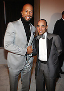 l to r: Common and Derek Dudleyat The National CARES Mentoring Movement Gala held at ESPACE on December 2, 2008 in NYC..National CARES is a mentor-recruitment movement that works ti fill the pipeline of youth-supporting organizations throughout the country with mentors. Its mission is to save a generation by outting a caring adult in the life of every at-risk child and those who have already fallen in peril.