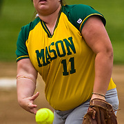 05/07/2010 Newark DE: George Mason Softball Pitcher Miranda Cranford during a softball game at Delaware.<br /> <br /> George Mason Softball Sweeps Doubleheader From Blue Hens, 5-0 and 5-4, In game one The Fighten Blue Hens defense couldn't keep up with George Mason. However George Mason defense was magnificent helping to blank the blue hens 5-0.