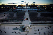 WASHINGTON, USA - January 18: The ceremonial construction and preparations on the West Front of the U.S. Capitol near completion just days before the 58th Inauguration Ceremony where President-elect Donald Trump will be sworn into office in Washington, USA on January 18, 2017.