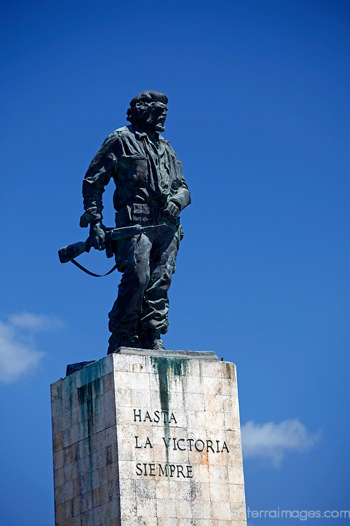 Central America, Cuba, Santa Clara. Statue of Ernesto Che Guevara at the Che Guevara Memorial and Museum.